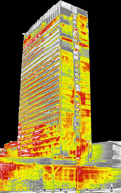 Heat loss of large buildings